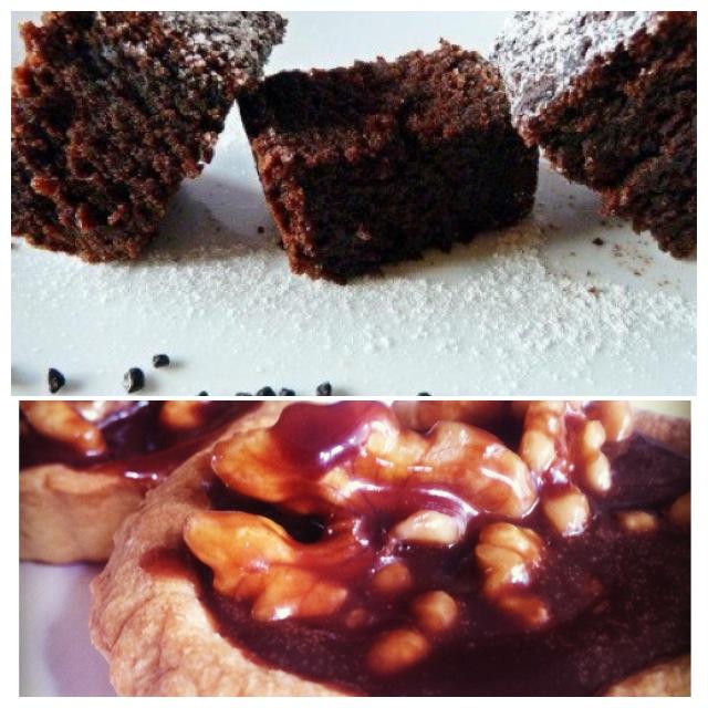 義式巧克力&焦糖核桃塔