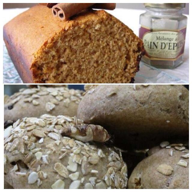 法式香料麵包&葡萄核桃雜糧麵包