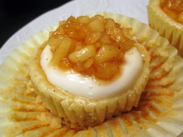 法式白蘭地蘋果起司杯子蛋糕