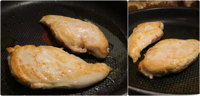 白酒奶油香煎雞肉