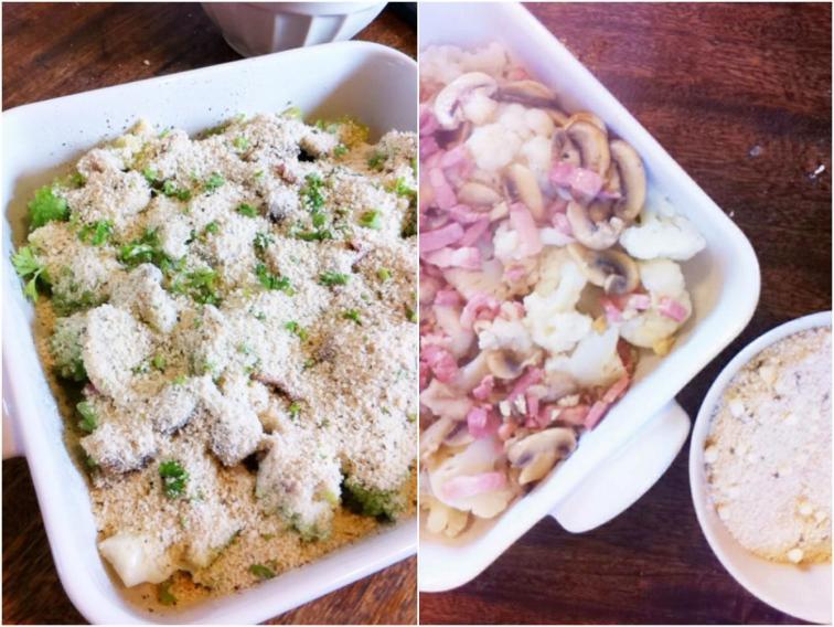 花椰菜蘑菇烤麵包碎-1