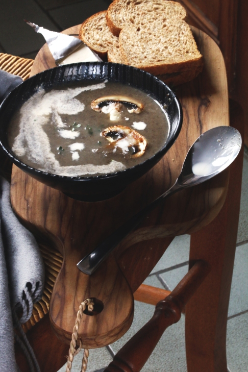 奶油蘑菇濃湯Soupe crémeuse aux champignons