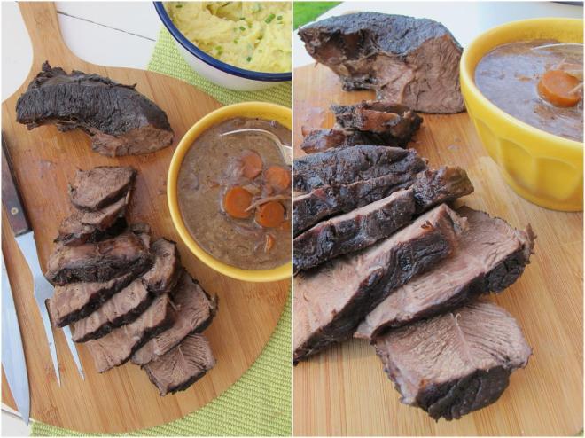 30分鐘後 切片,淋肉汁ㄧ起食用