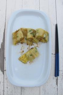 台灣家常料理-傳統厚皮蛋餅
