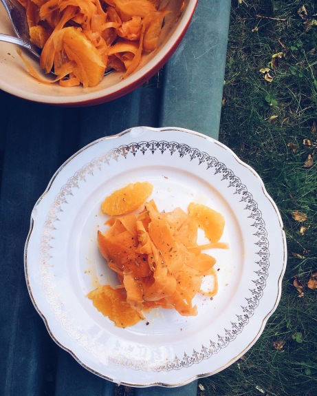 法國家常沙拉-甜橙紅蘿蔔寬麵沙拉