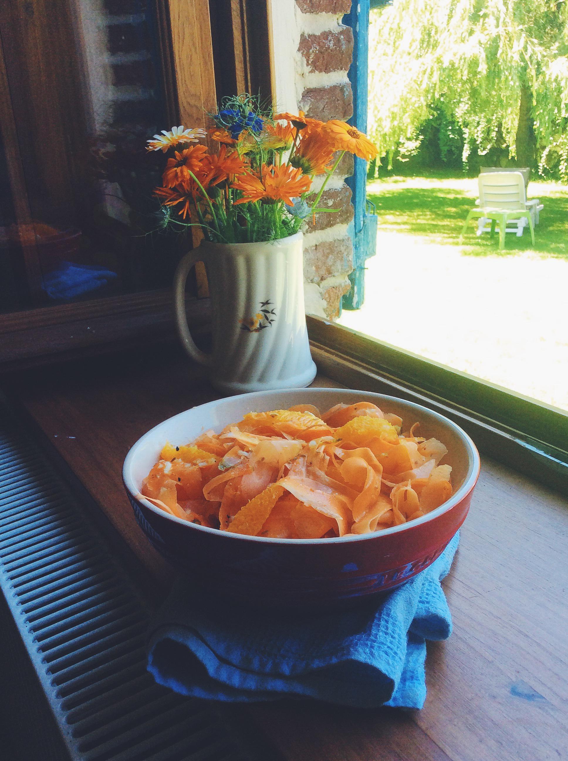 法國家常沙拉—甜橙紅蘿蔔茴香寬麵沙拉