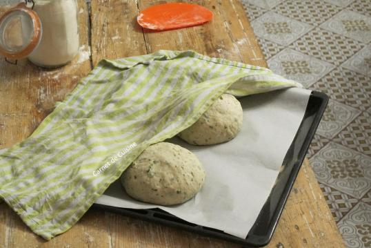 法國手工麵包-羅勒橄欖油麵包Le pain de basilic-7