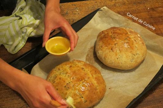 法國手工麵包-羅勒橄欖油麵包Le pain de basilic-8