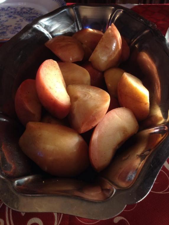 香草煮蘋果