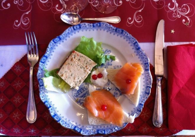 法國2014年聖誕節我家餐桌紀錄La table de Noel chez moi 2014-前菜