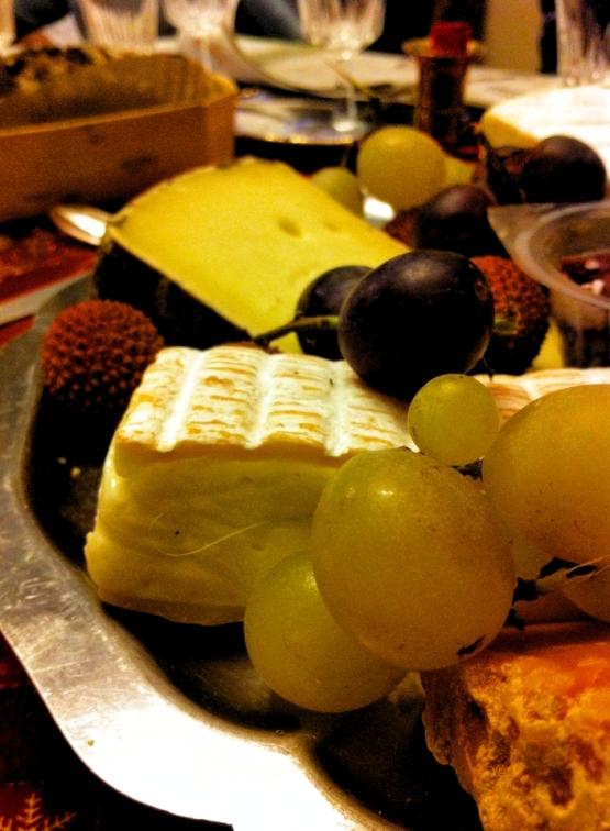 法國2014年聖誕節我家餐桌紀錄La table de Noel chez moi 2014乳酪水果2