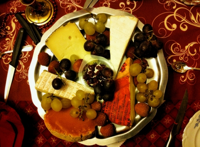 乳酪水果盤
