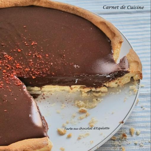 Tarte au chocolate d'Espelette-3
