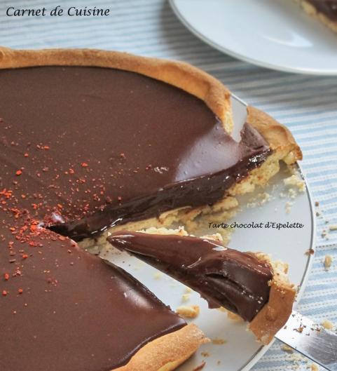 Tarte chocolat d'espelette