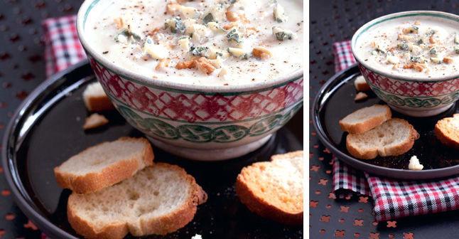 藍乳酪白花椰菜濃湯,記得ㄧ定要配麵包喔!
