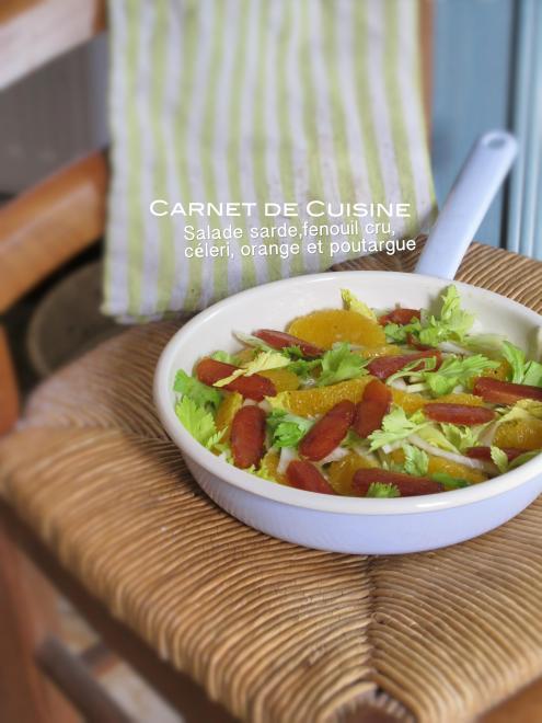 薩丁島烏魚子沙拉,茴香甜橙沙拉-2