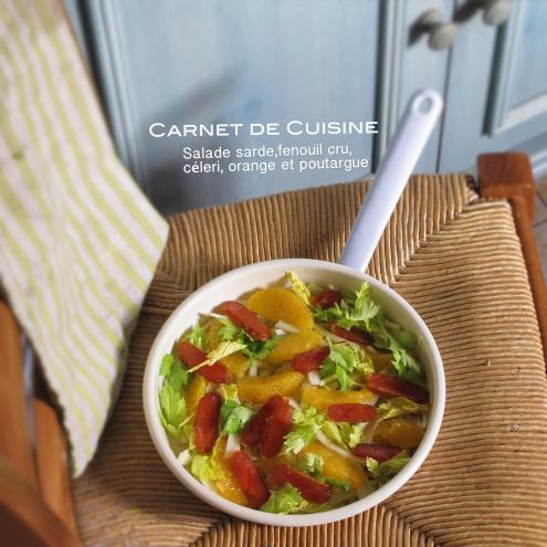 薩丁島烏魚子,茴香甜橙沙拉-3