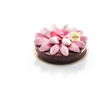 la fleur des neiges vanille-myrtilles藍莓香草雪花Lenôtre 圖片來自Lenôtre官網
