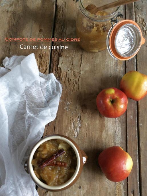 compote de pommes au cidre