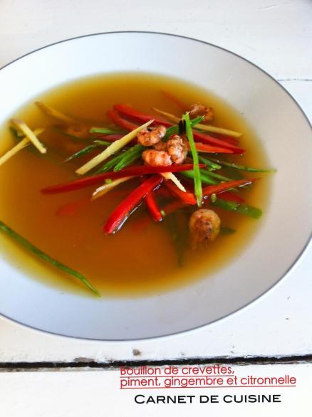 鮮蝦甜椒湯佐薑絲與香茅Bouillon de crevettes,piment,gingembre et citronnelle-3