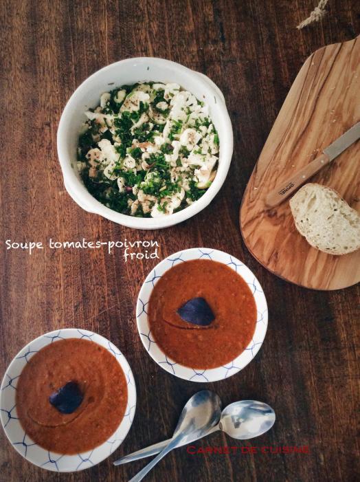 Soupe tomates-poivron froid