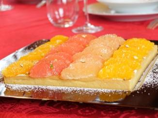 柑橘葡萄柚塔Tarte au pamplemousse