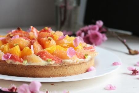 柑橘葡萄柚塔Tarte au pamplemousse-4