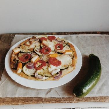 Pizza au courgette