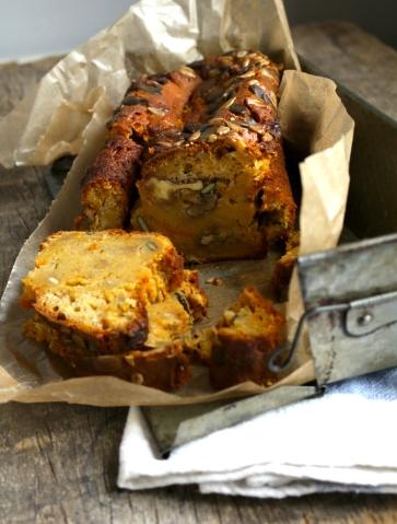 核桃,椪柑,南瓜蛋糕Gâteau au potiron. noix et clémentine