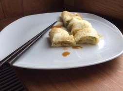 傳統家常蛋餅 Dan bing, Crêpes Taiwanaise aux œufs et à l'oignon-1