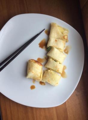 傳統家常蛋餅 Dan bing, Crêpes Taiwanaise aux œufs et à l'oignon