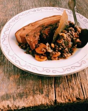 綠扁豆&三層燻肉也很搭配