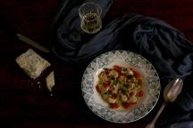 Gnocchis potiron ,sauce crème fraîche fromage fort