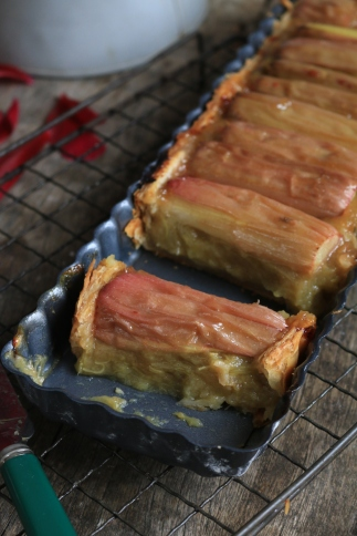 大黃根蘋果派Tarte au rhubarbe et pomme