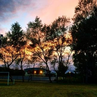 秋天的晚霞