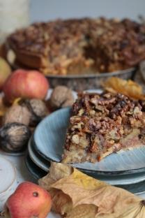 秋天的蜂蜜蘋果核桃塔Tarte d'automne -poires,pommes, noix et miel