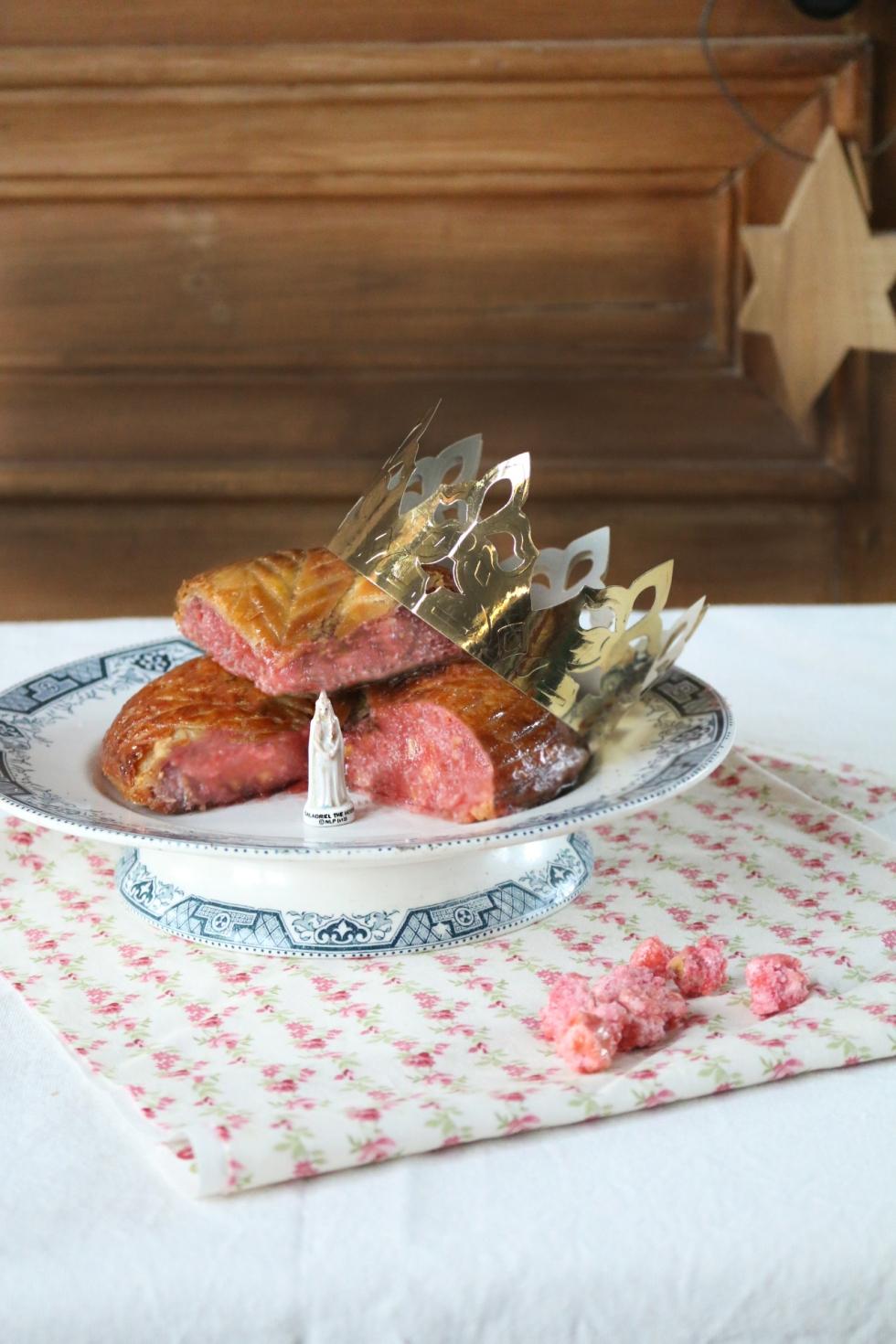 粉紅糖帕林果仁國王餅Galette des roi  praline rose