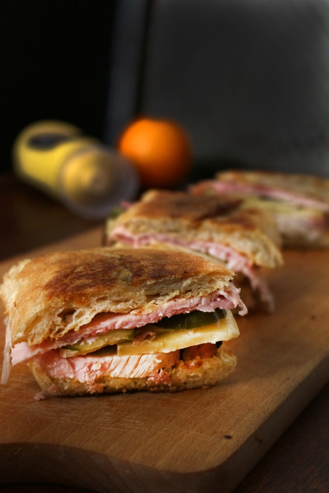 Mojo烤豬肉古巴三明治