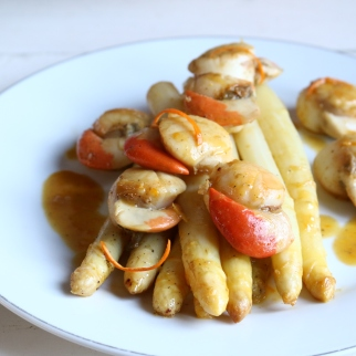 白蘆筍干貝椪柑醬汁ST-JACQUES AUX ASPERGES BLANS ET CLEMENTTINES