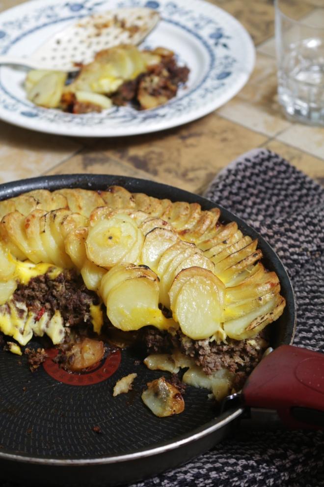 焗烤牛肉末馬鈴薯片GRATIN DE POMME DE TERRE À LA VIANDE HACHÈE-4