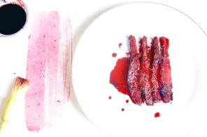 甜菜根堆漬鮮鮭魚GRAVELAX DE SAUMON À LA BETTERAVAs