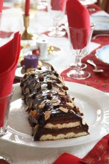 聖誕幕斯巧克力樹輪 LA BÛCHE DE NOËL AU CHOCOLAT