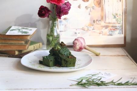 蕁痲葉Mozzarella鹹蛋糕 CAKE AUX ORTIES-1