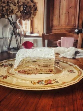 我的家常甜點-玫瑰千層蛋糕 CAKE AUX CRËPES À LA ROSE